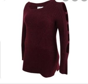 Nwt. Crave fame by almost famous burgandy sweater